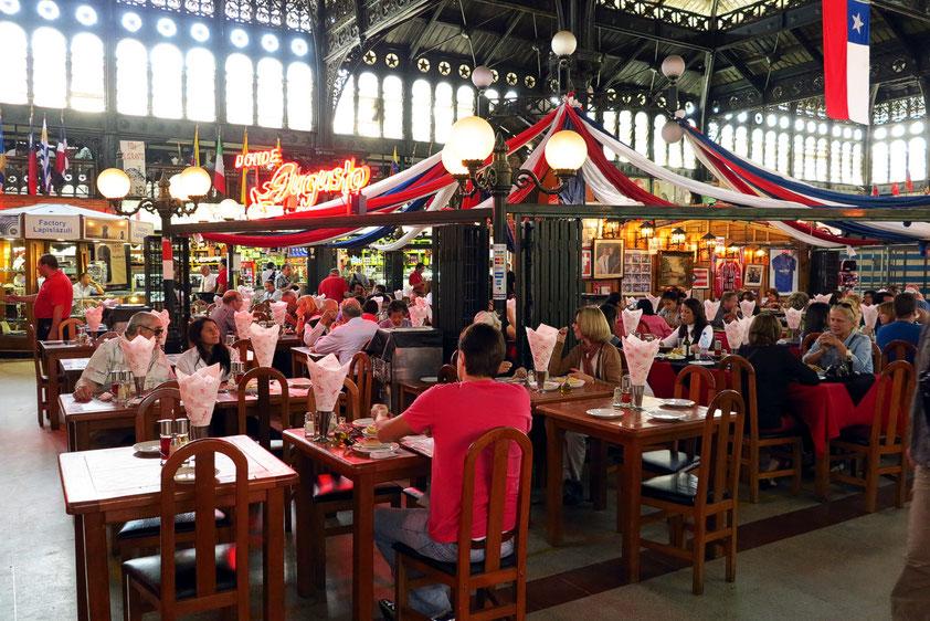 Mercado Central de Santiago con Restaurante en salón central