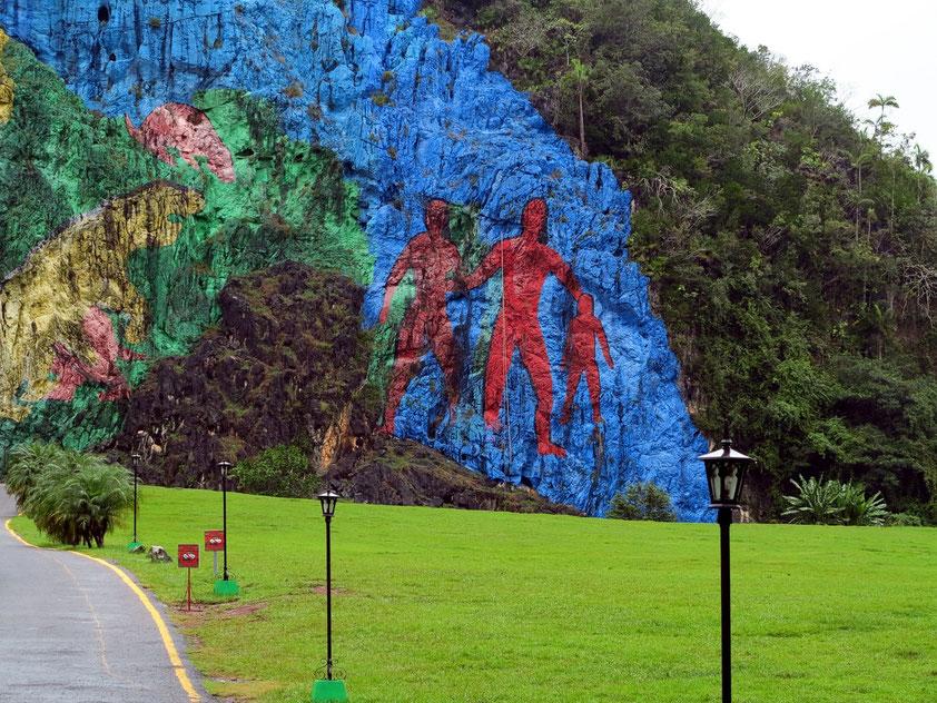 Mural de la Prehistoria im Valle de Viñales