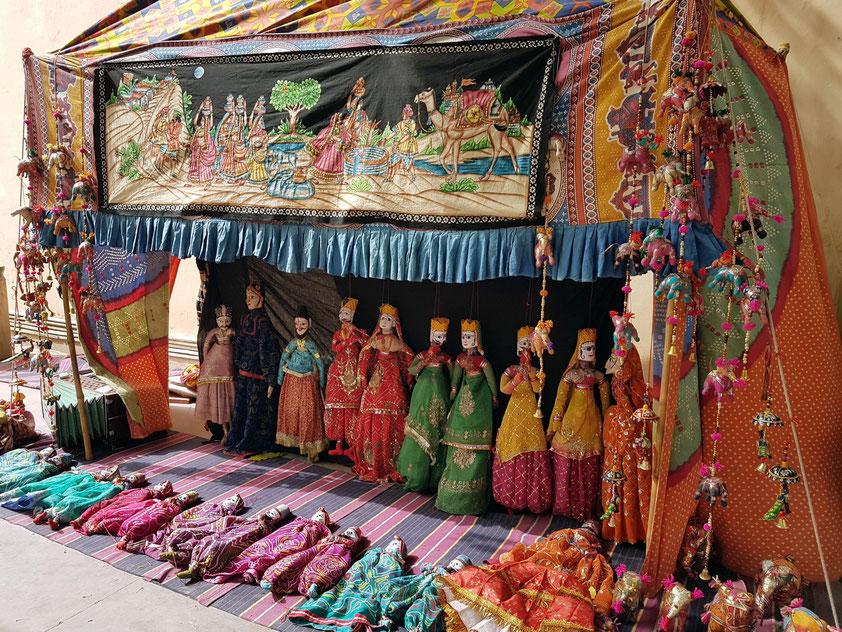 Indisches Puppentheater auf dem Gelände von Jantar Mantar