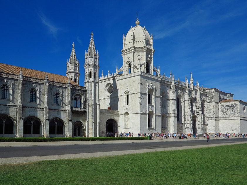 Hieronymus-Kloster (Mosteiro dos Jerónimos), bedeutendster Bau der Manuelinik, 1501 - 1601, Südfassade, Weltkulturerbe der UNESCO