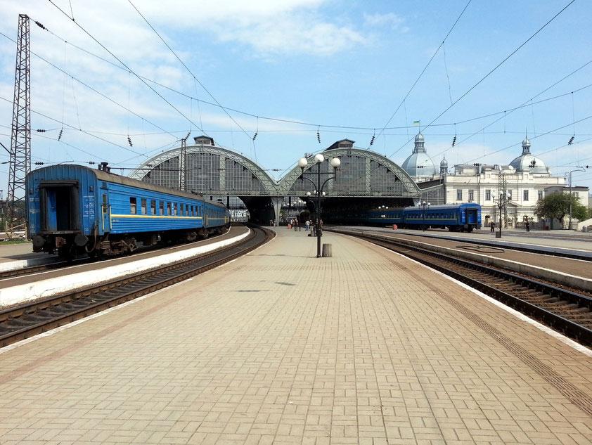 Bahnhofsanlage von Lviv