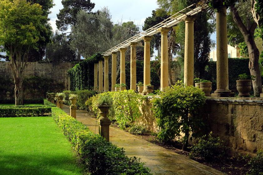 Gartenanlage des Palastes San Anton (Palazz ta' Sant'Anton) in Attard