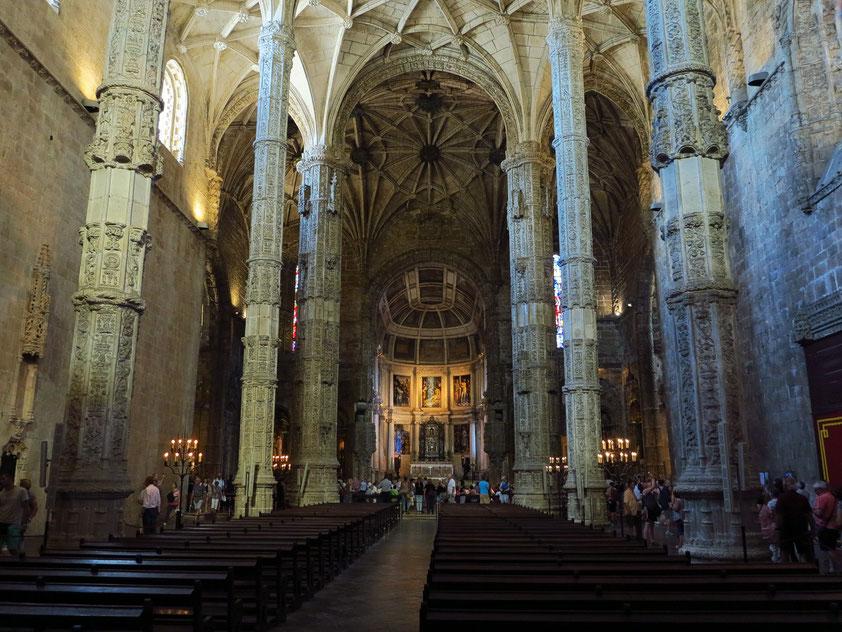 Hieronymus-Kloster (Mosteiro dos Jerónimos), Innenansicht der Kirche