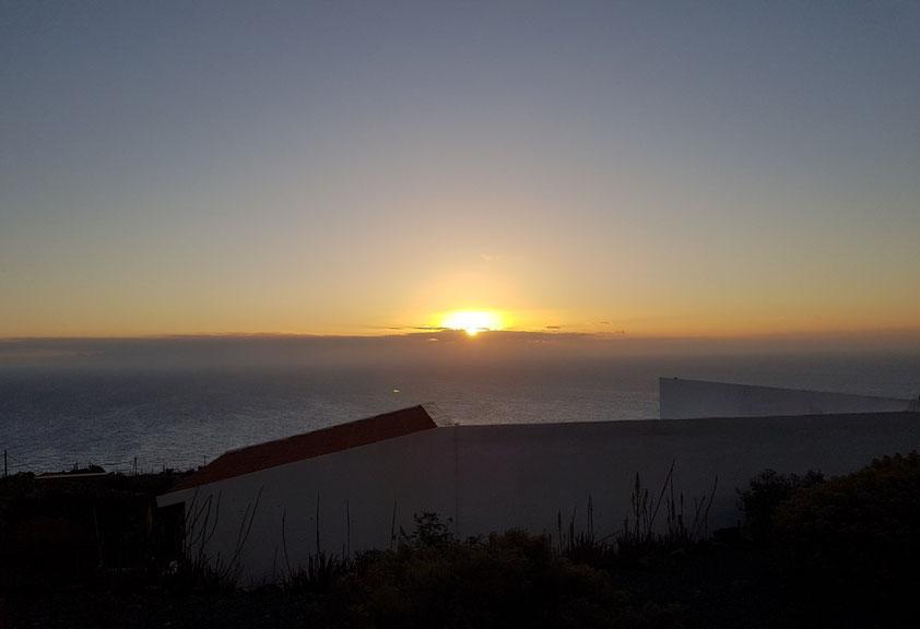 Sonnenaufgang über Echedo am 23.6.2021 um 7:26 Uhr