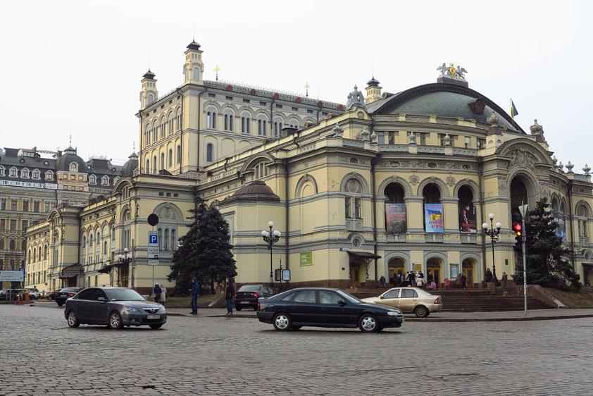 Taras-Schewtschenko-Opernhaus, erbaut 1898-1901 im Stil des Rationalismus, des Barocks und der Neoromanik, Architekt Viktor Schröter