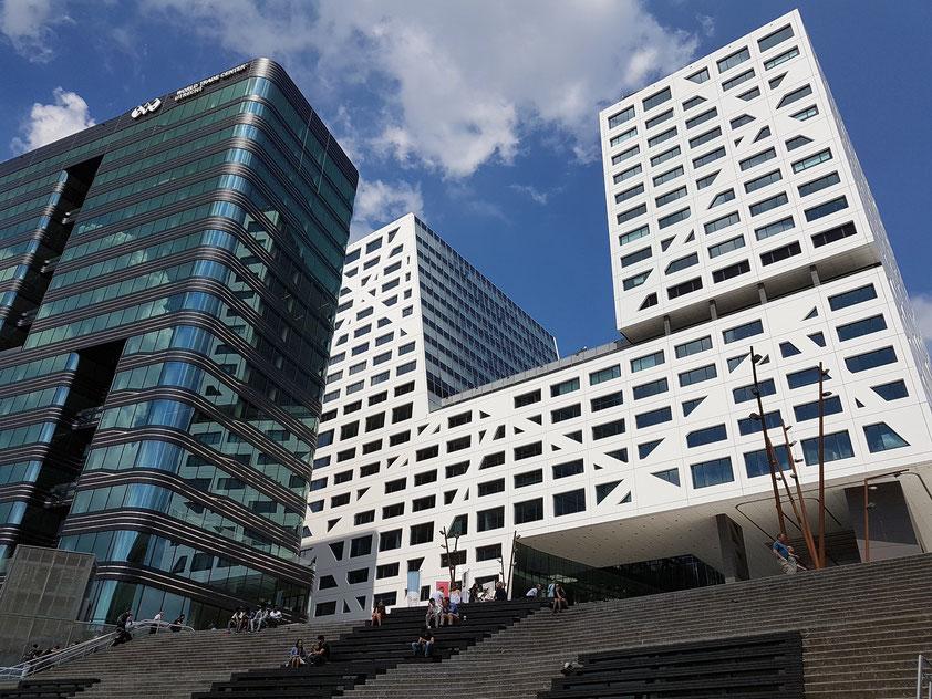 Utrecht, neue Hochhausbebauung am Westende der Central Station
