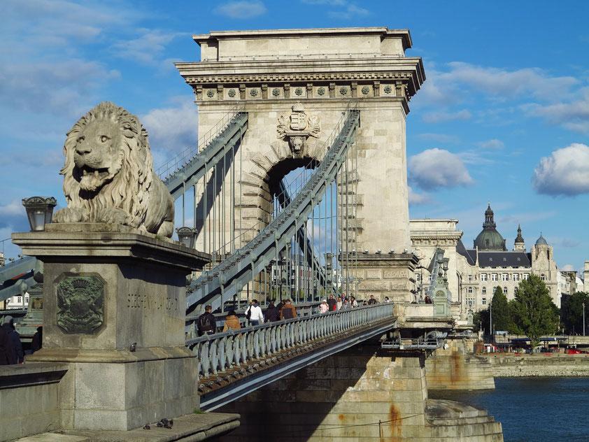Budapest, Kettenbrücke über die Donau