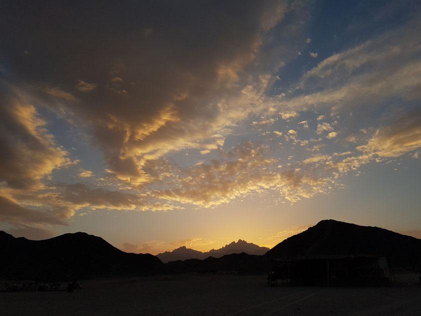 Sonnenuntergang in der Arabischen Wüste