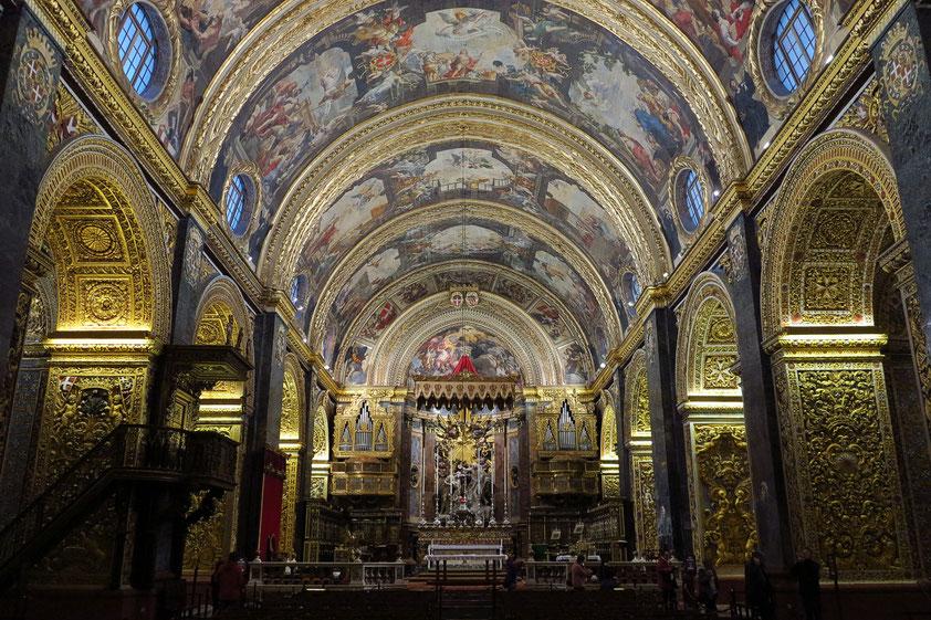 St. John's Co-Kathedrale, der innen am schönsten ausgestaltete Kirchenbau im Mittelmeerraum