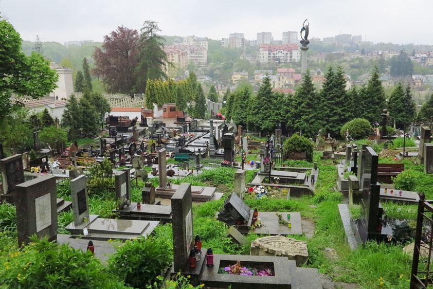 Lytschakiwski-Friedhof, einer der schönsten Friedhöfe Europas (1786), mit Ruhestätten berühmter Persönlichkeiten aus Lemberg