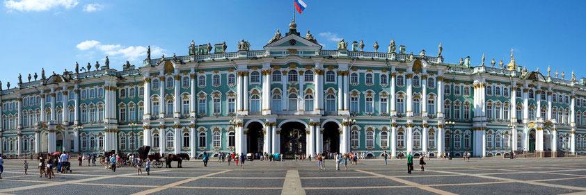 Das Museum Eremitage mit seiner reichhaltigen Sammlung  im Winterpalast ist der Höhepunkt der Kunst in St. Petersburg.