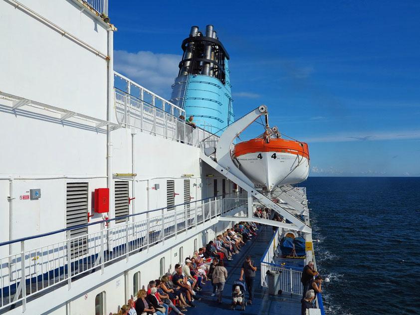 """Auf der Kreuzfahrtfähre """"Princess Anastasia"""" von Sankt Petersburg/Russland über Helsinki/Finnland nach Tallinn/Estland, 27.8.2018, 10:42 Uhr Ortszeit"""