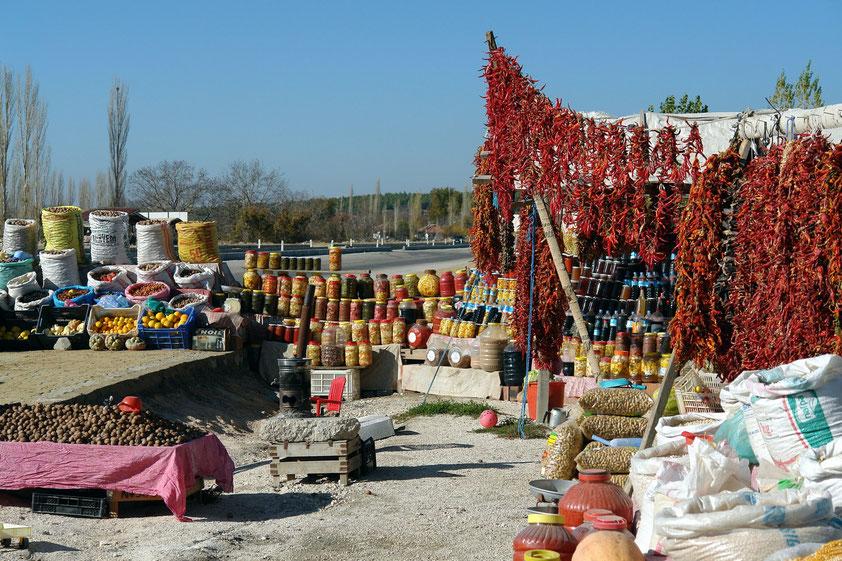 Rastplatz an der Strecke von Pamukkale nach Antalya