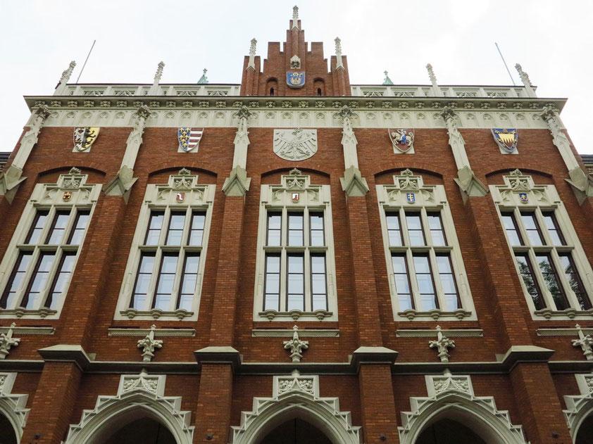 Collegium Novum, neogotisches Hauptgebäude der Jagiellonen-Universität, gebaut 1873-1887