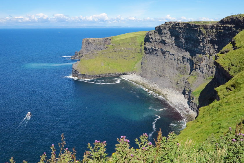 Cliffs of Moher , Blick nach Nordosten