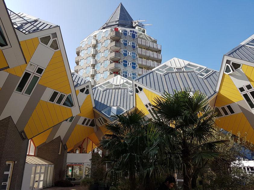 Eines der Kubushäuser ist für Besucher zugänglich.