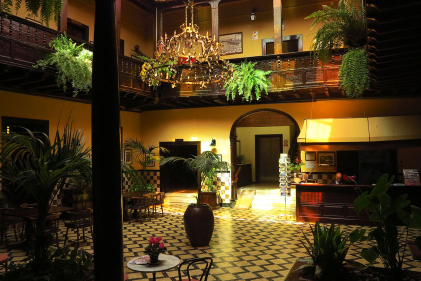 Patio des Hotels Marquesa in Puerto de la Cruz