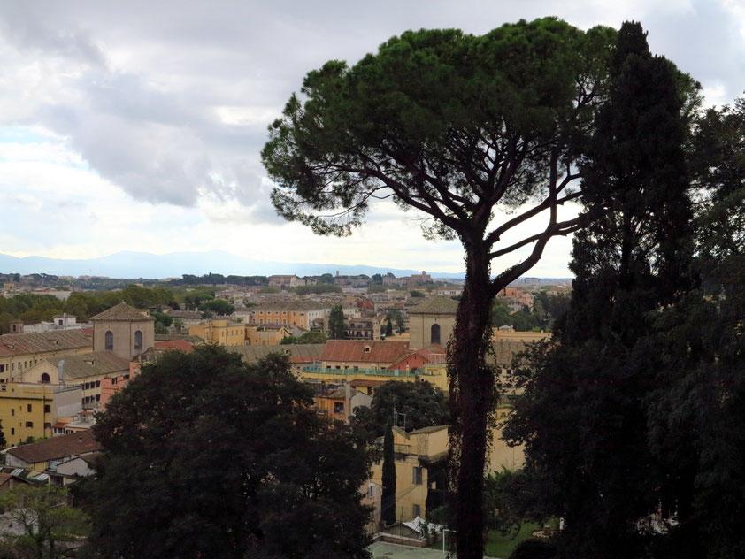 Blick vom Parco del Gianocolo in südliche Richtung auf Rom