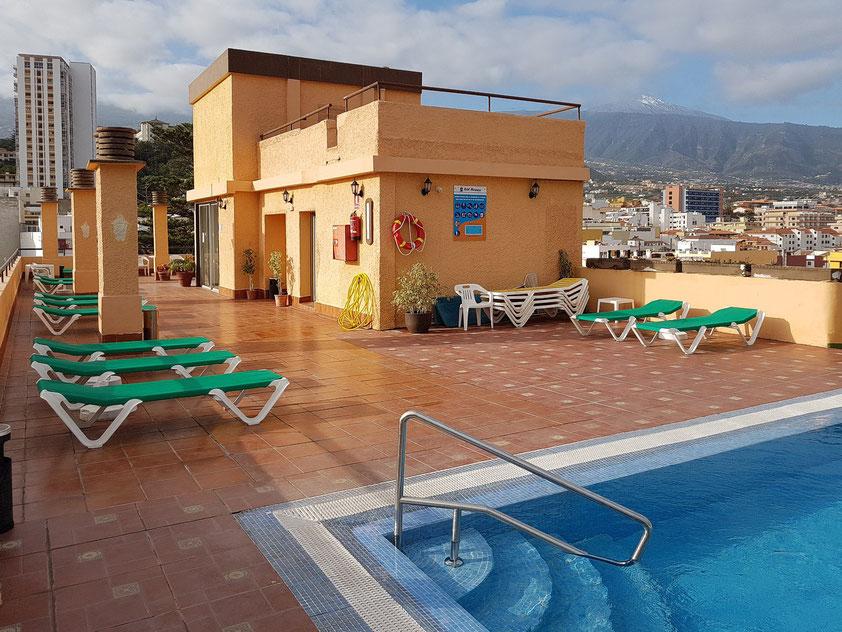 Unser Doppelzimmer C 600 auf dem Dach des Hotels Marquesa