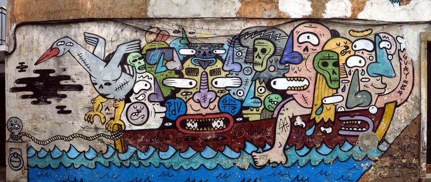 Graffiti-Wandbild in Ponta Delgada