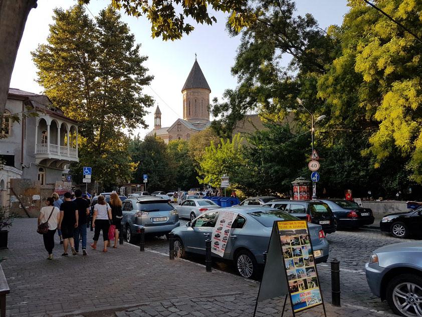 Jvaris Mama Church in der Altstadt. Der Name stammt von einer georgischen Kirche in Jerusalem. Friedliche Nachbarschaft der jüdischen Synagoge, der georgisch-orthodoxen Kirche Jvaris-Mama und der armenischen Kirche Norashen