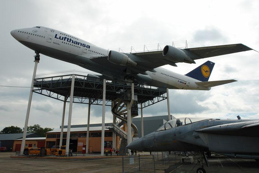 Technik-Museum Speyer, begehbare Boeing 747, Liller Halle (Aufnahme von 2008)