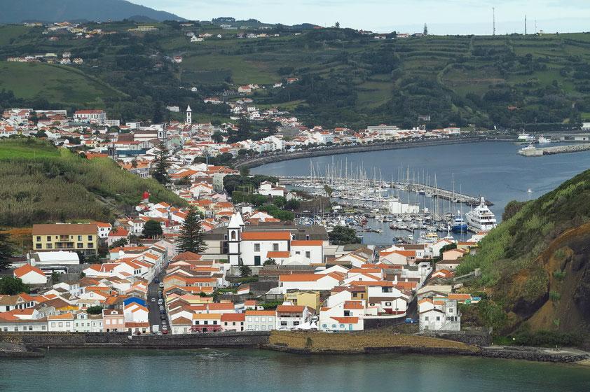 Blick vom Monte da Guia in nördlicher Richtung auf Horta
