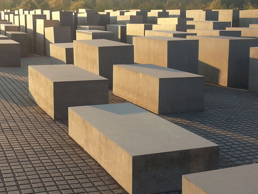Denkmal für die ermordeten Juden Europas in der Mitte Berlins (Entwurf Peter Eisenman)