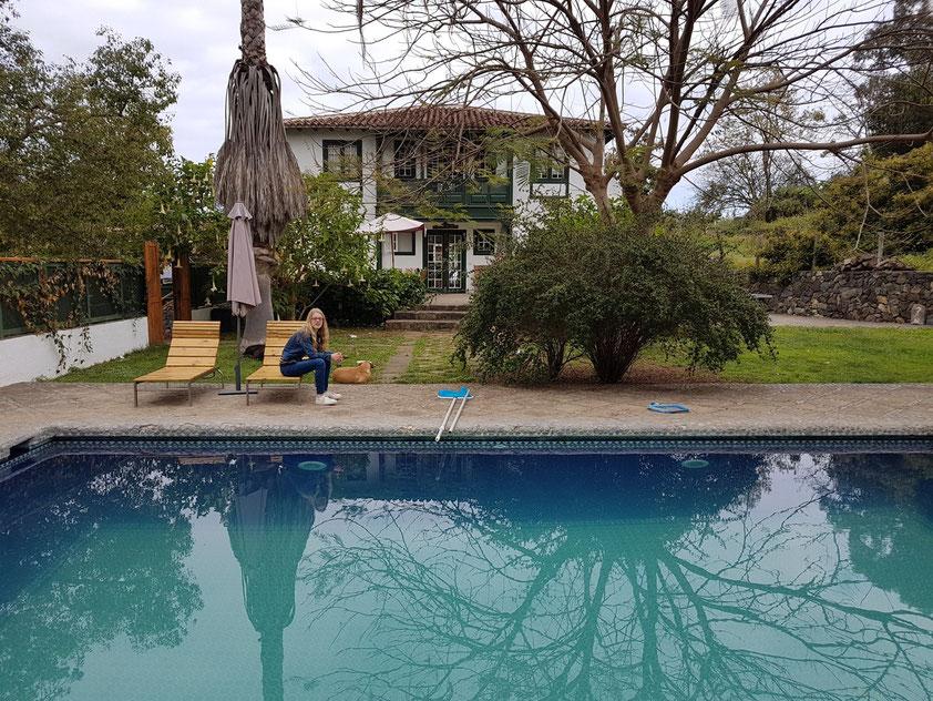 Finca El Quinto, privates Herrenhaus und Swimmingpool. In zwei Ferienhäusern der Finca El Quinto haben Almut und ich im März 2004 gewohnt.