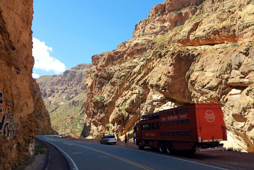 Schlucht zwischen Potosí und dem Thermalbad Tarapaya