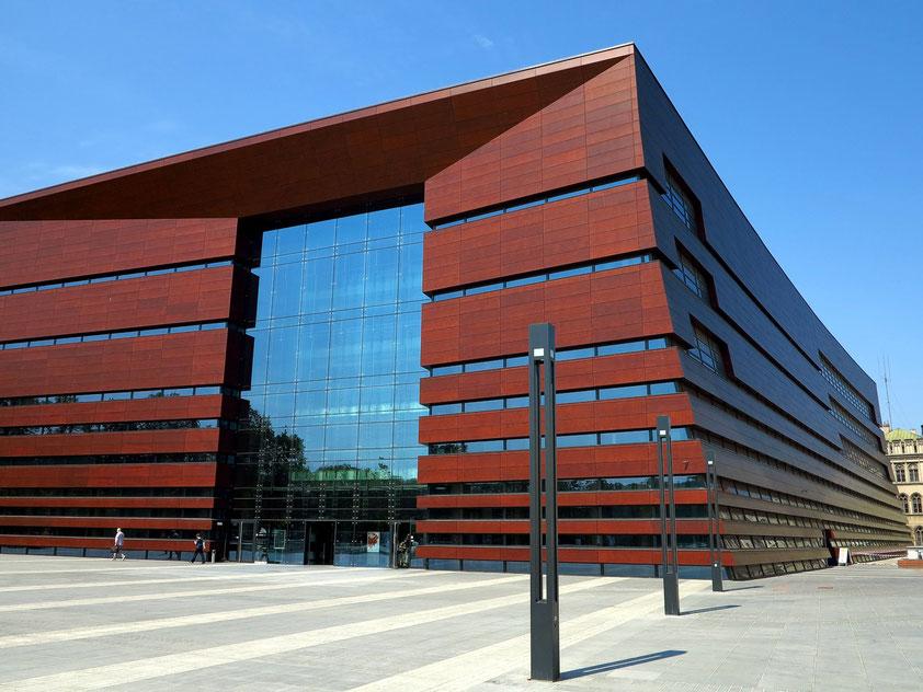 Breslau, Nationales Musikforum, eröffnet im September 2015, einer der kulturellen Leuchttürme zum Europäischen Kulturhauptstadtjahr 2016