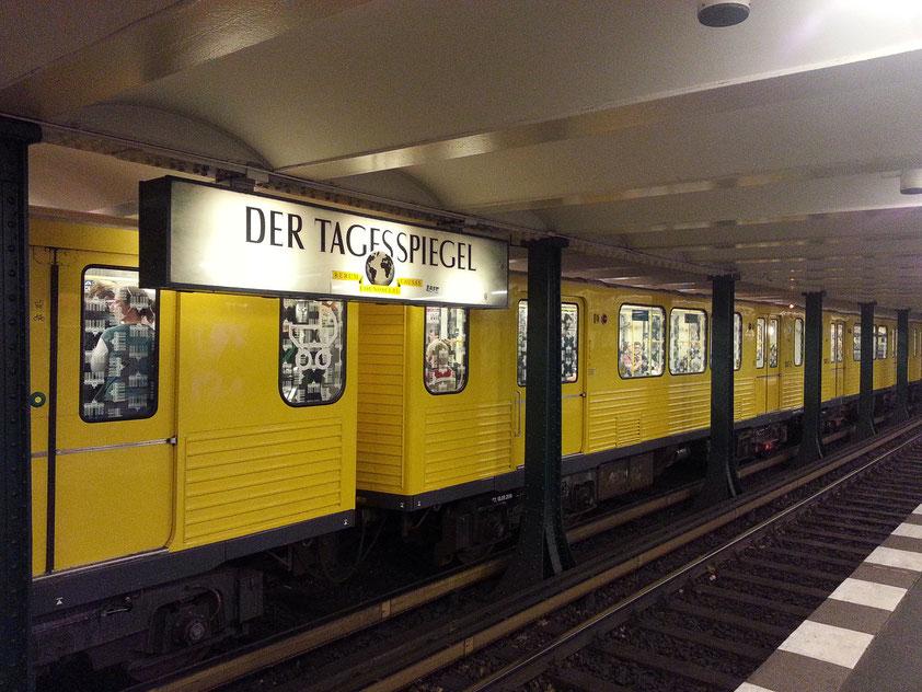 U-Bahnhof Wittenbergplatz, alte Waggons der DDR