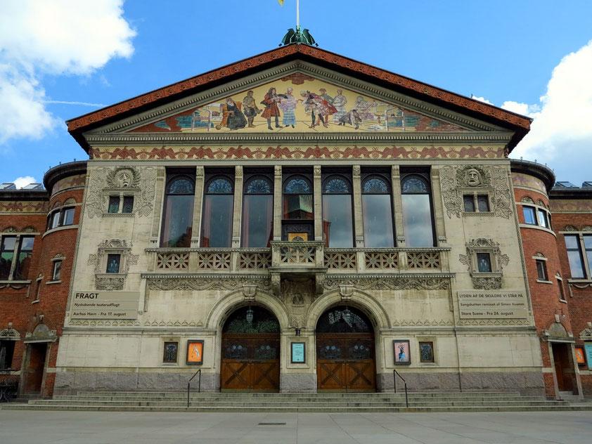 Jugendstilgebäude des Aarhus Teaters, 1900 eingeweiht (Architekt: Hack Kampmann)
