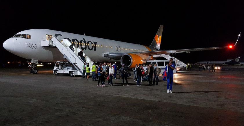 Nach der Landung der Condor-Maschine in Havanna