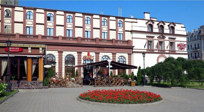 Hotel Mozart, 19. Jahrhundert, Gartenseite