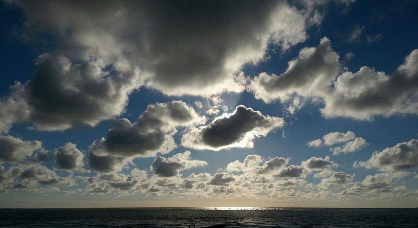 Am Nordstrand von Norderney vor Sonnenuntergang