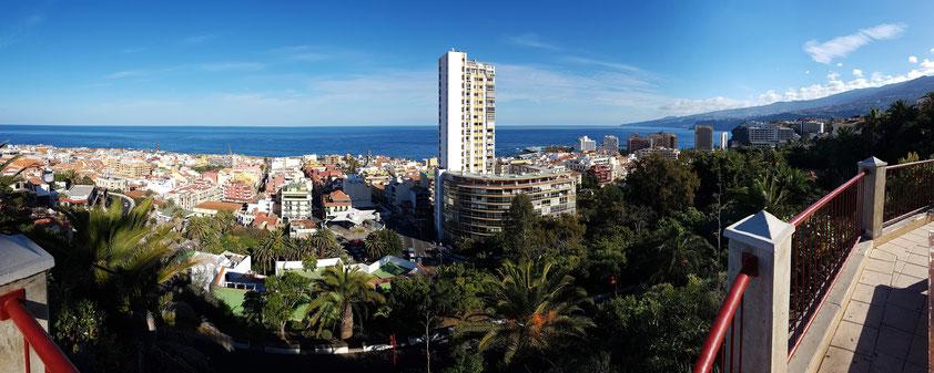 Panoramablick vom Mirador de La Atalaya. Parque Taoro.