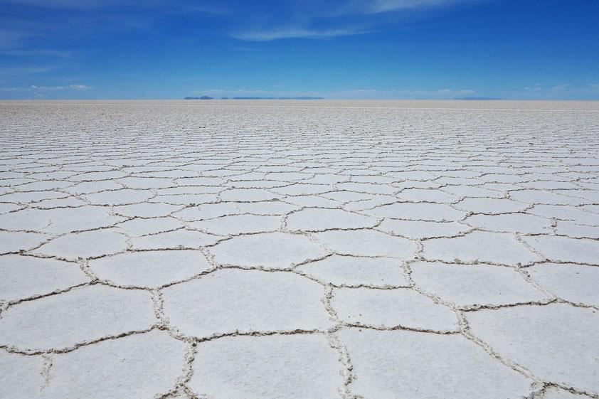 Der Salzsee von Uyuni beherbergt eines der weltweit größten Lithiumvorkommen, wertvoller Rohstoff u.a. für die Automobilindustrie