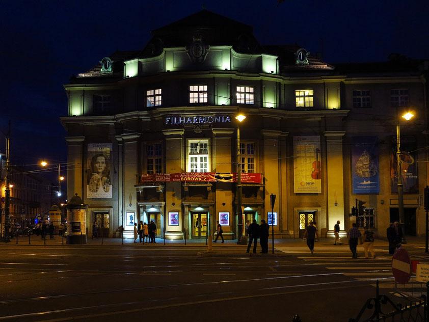 Krakauer Philharmonie (1931 erbaut) nach dem Konzert