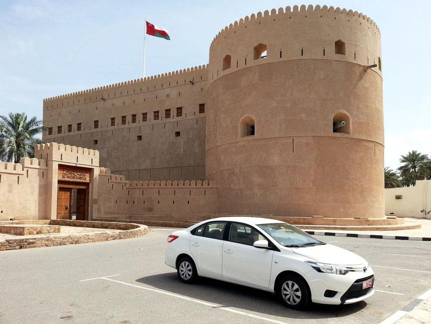 Festung Al Hazm, 1708 errichtet, ist die jüngste der großen Wehranlagen. Ihr Erbauer Sultan bin Saif II. war der letzte unumstrittene Imam der Al-Ya'aruba-Dynastie.