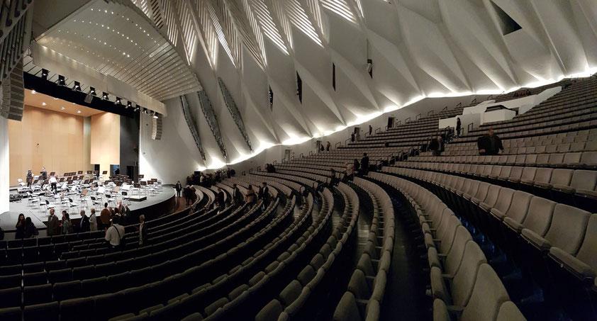 Nach dem Konzert. Großer Saal des Auditorio de Tenerife