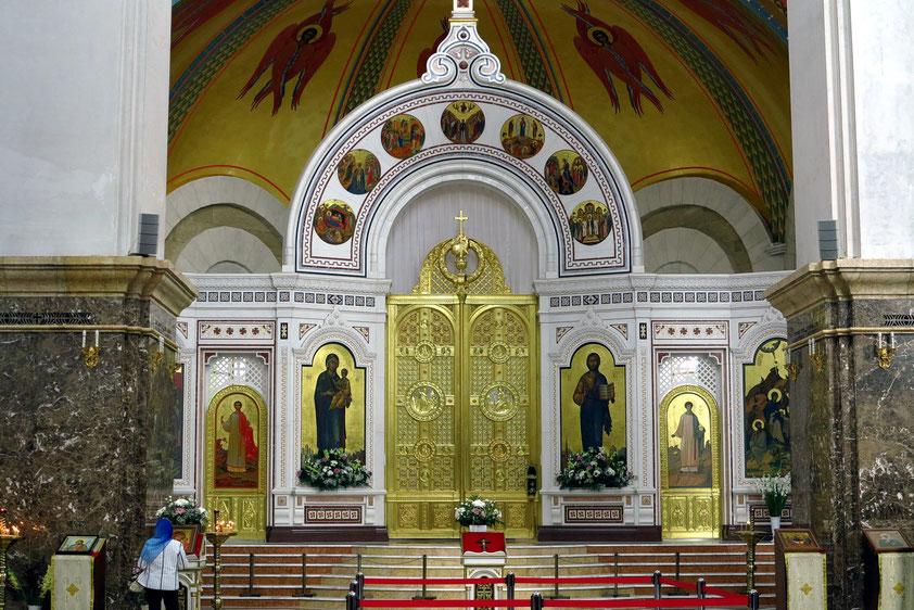 Ikonostase in der Christ-Erlöser-Kathedrale