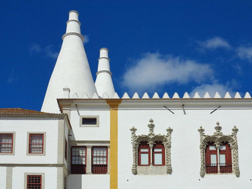 Palácio Nacional de Sintra. Schornsteine der Palastküche