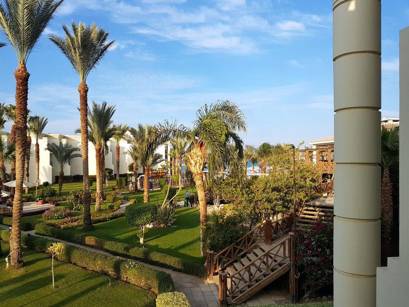 Hilton Resort Hurghada, Blick aus meinem Zimmer 6105