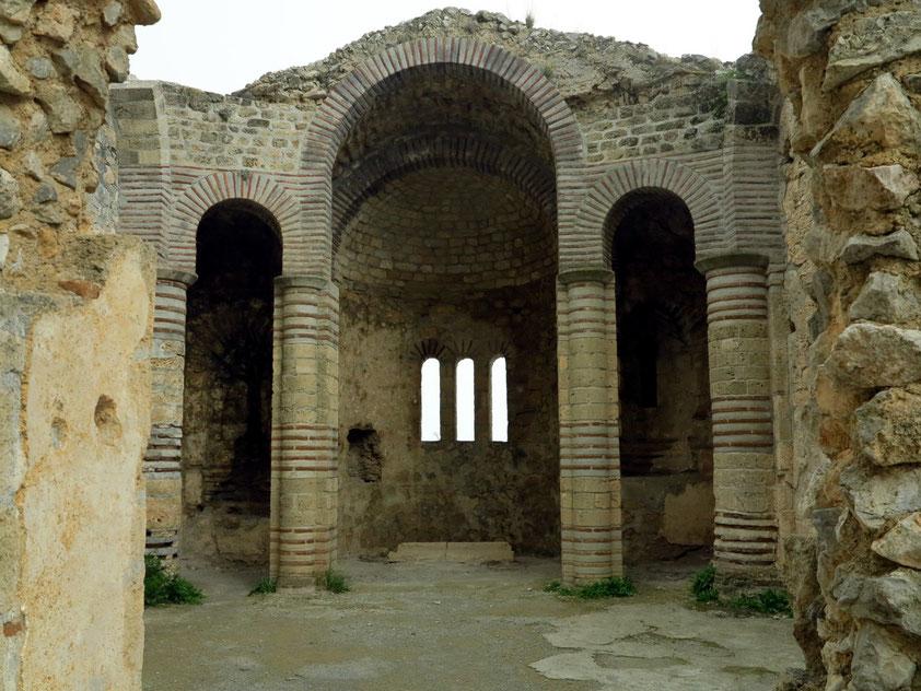 St. Hilarion, Reste der byzantinischen Klosterkirche