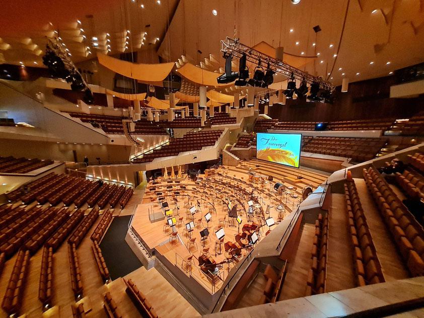 Berliner Philharmonie, Großer Saal vor dem Konzert