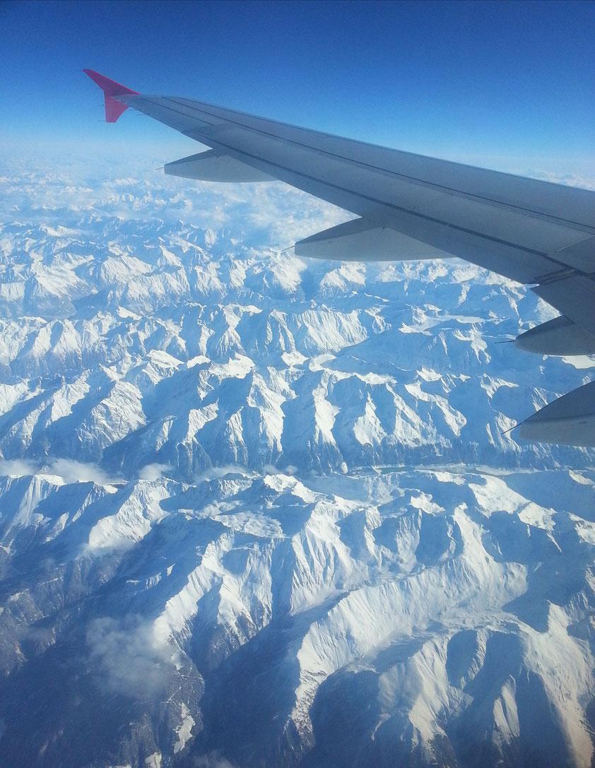 10 000 Meter über den Alpen
