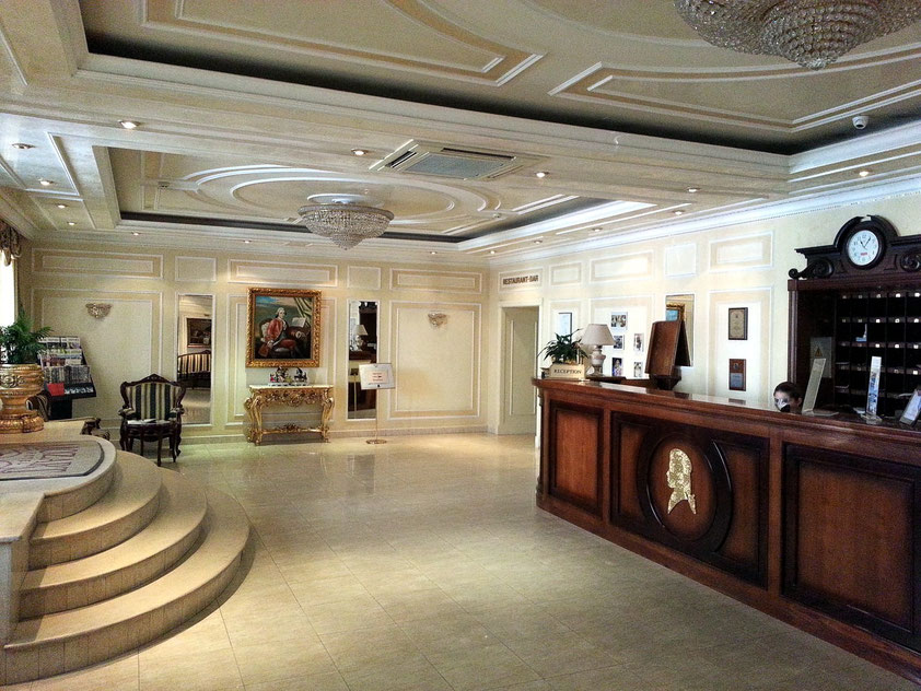 Hotel Mozart, Eingangshalle und Empfang