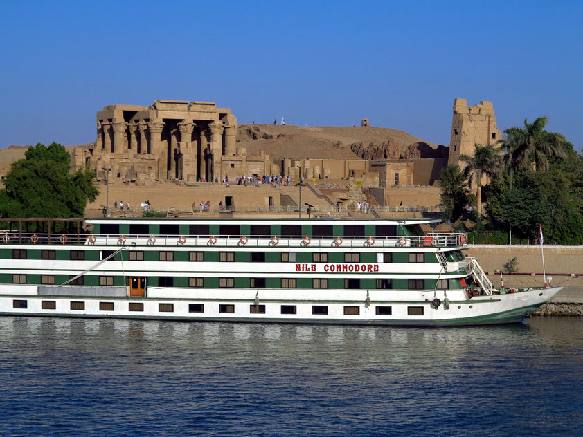 Tempelanlage von Kom Ombo am Nilufer