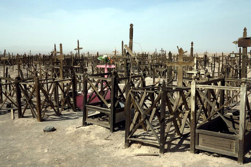 Friedhof der Salpeterarbeiter im 19. Jahrhundert